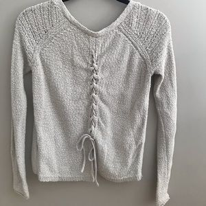 Hollister tie up sweater